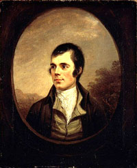 Robbie Burns - photo courtesy of the National Portrait Gallery of Scotland